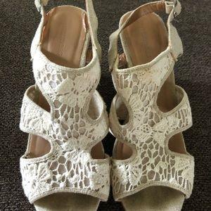 Shoes - Lace wedges